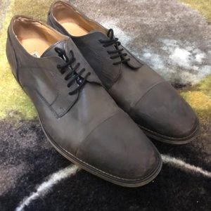 Gray Leather Dress Shoes